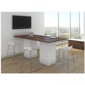 Tall Huddle Table with Cube Base