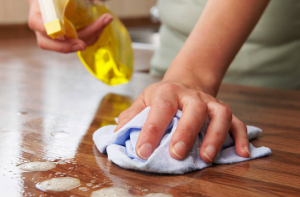 cleaning surfaces to avoid germs