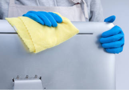 sanitizing and cleaning your office
