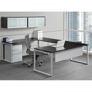 U-Shape Desk with Enclosed Square Legs