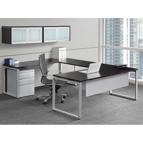 U-Shape Desk with Enclosed Square Legs