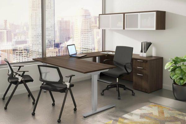 U-Shaped Stand Up Desk Suite
