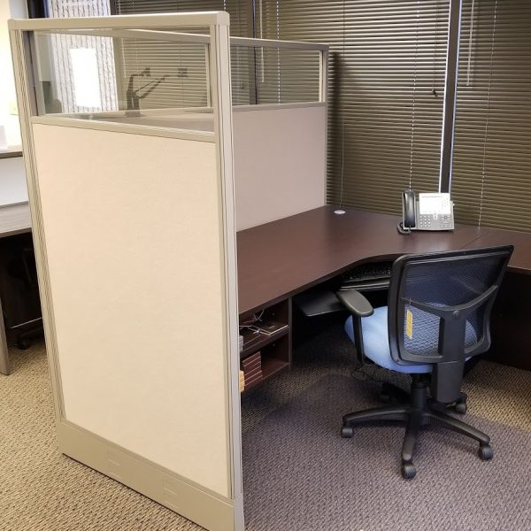 """Panel Wrap - Glass Divider Walls for Desks and Tables - 66"""""""