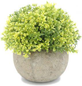 cubicle decorating ideas - artificial plant