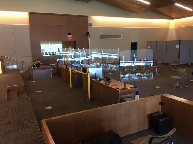 Council Chambers Room with Acrylic Dividers