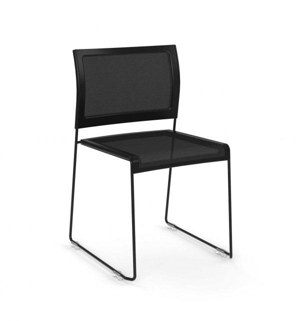 Black-Mesh-Stacking-Chair---The-Pixel-Series