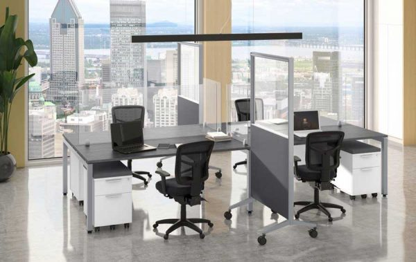 Freestanding-Acrylic-Room-Divider-for-open-plan-seating