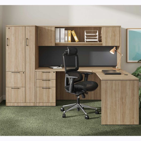 L-Shaped-Desk-with-File-Cabinet-and-Overhead-Storage
