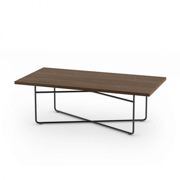 Rod Base Rectangular Coffee Table