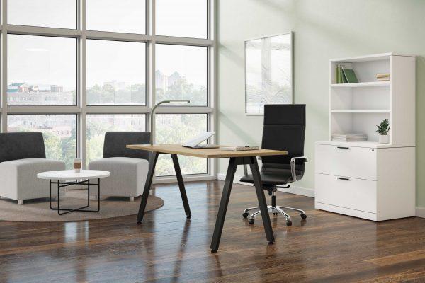 Table-Desk-With-Black-V-Legs
