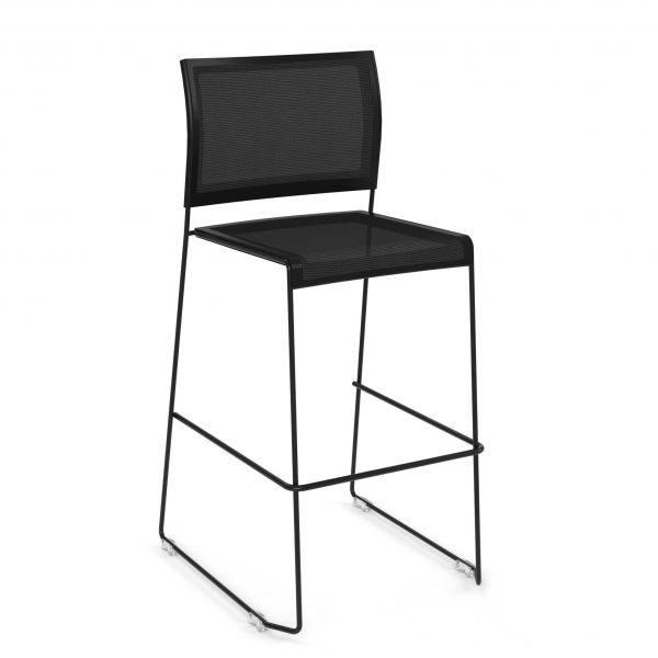 Tall-Stool---Black-Mesh---The-Pixel-Series