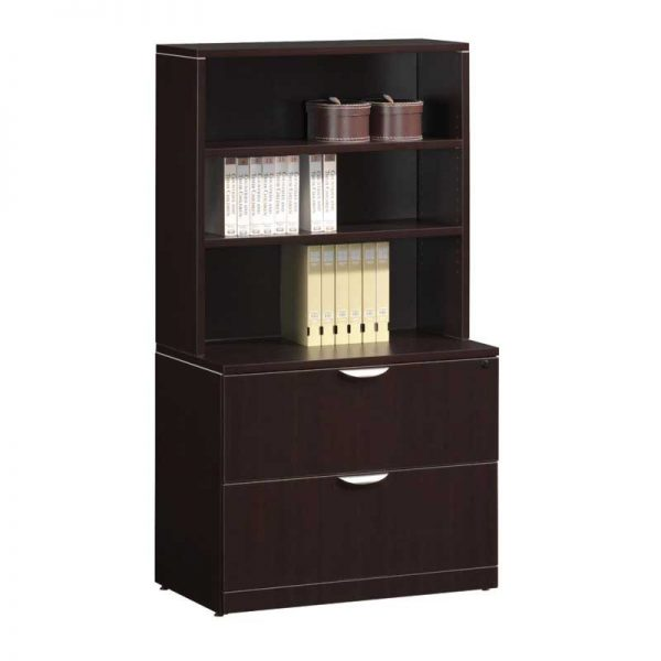 Two Drawer Lateral File & Bookcase Combo