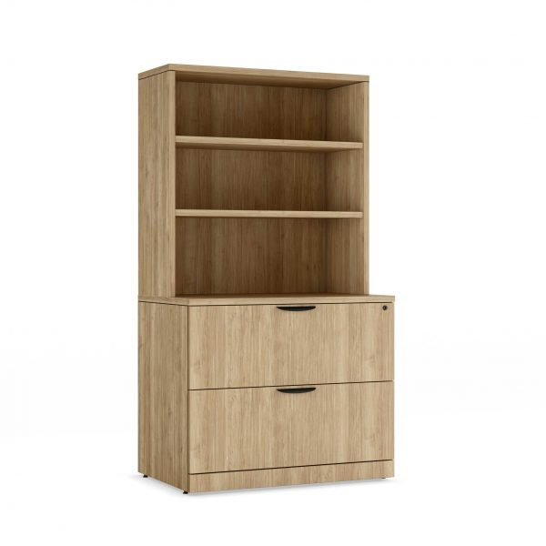 Two-Drawer-Lateral-File-&-Bookcase-Combo-Aspen