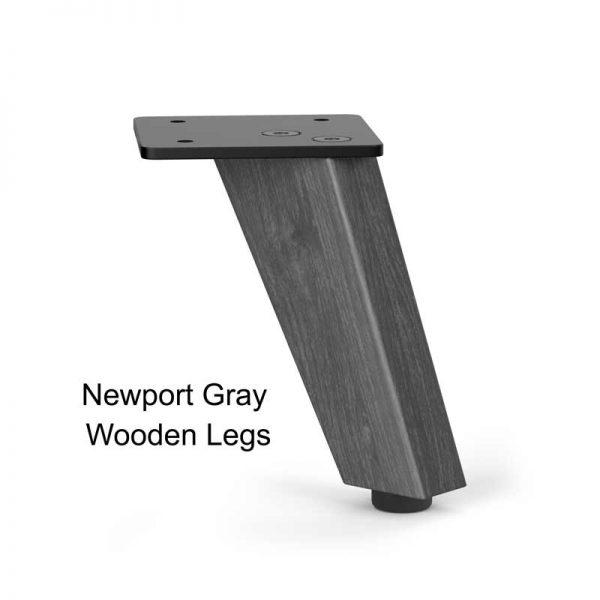 Newport Gray Wooden Table Legs