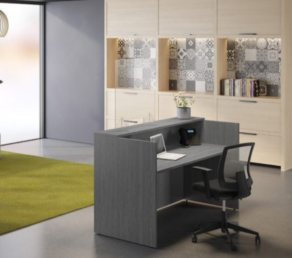 Moveable Desktop Guards for Receptionist Areas