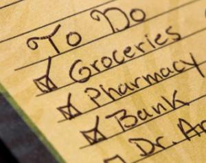 handwritten to do list