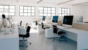 a hybrid office